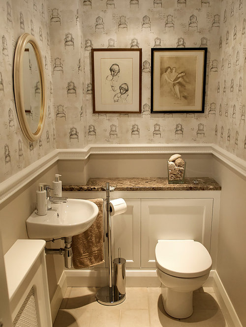 Small bathroom toilet design ideas remodel pictures houzz for Toilet room decor