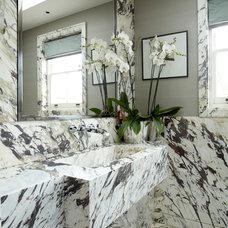 Contemporary Powder Room by TLA Studio