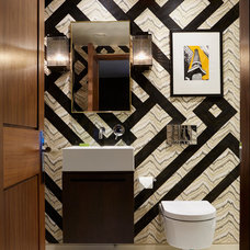 Contemporary Powder Room by Violet & George