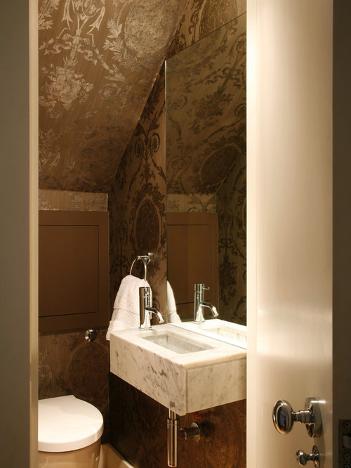 Small powder room houzz - Powder room layouts for small spaces photos ...