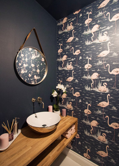Contemporary Cloakroom by Paula Trovalusci Interiors