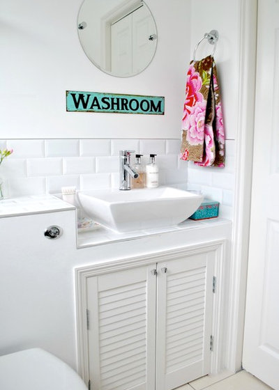 Traditional Powder Room by Torie Jayne