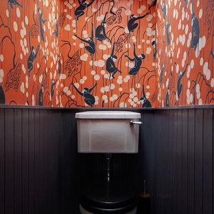Пример оригинального дизайна: туалет в стиле фьюжн