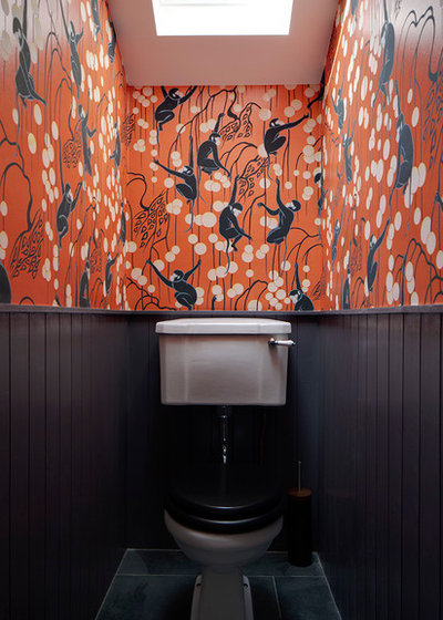 Eclectic Powder Room by Brian O'Tuama Architects