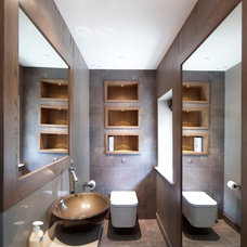 Contemporary Powder Room by Yiangou Architects
