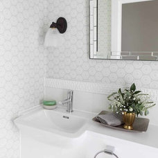 Contemporary Powder Room by Amory Brown