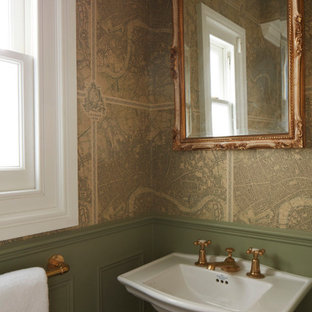 Design ideas for a traditional cloakroom in London.