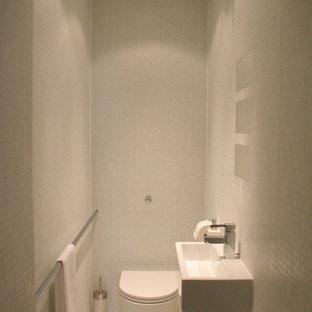 Powder room - contemporary powder room idea in Other