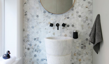 Why Tiny Hexagonal Tiles are Popping Up in Bathrooms Everywhere