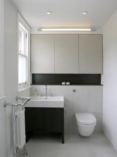 Contemporary Cloakroom by Rebecca Hatton Interiors Ltd