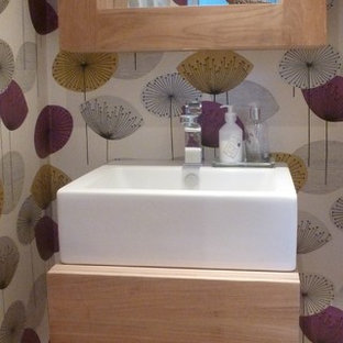 75 beautiful small mid-century modern powder room pictures