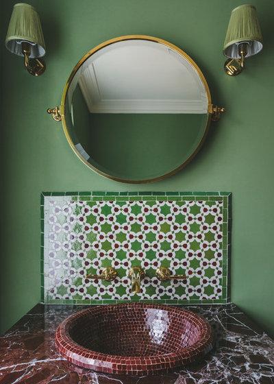 Mediterranean Cloakroom by Helen Bainbridge Interior Design