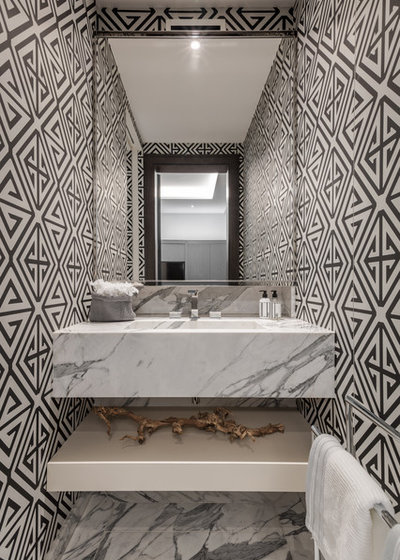 Contemporary Powder Room by Kanipak Architectural Photography