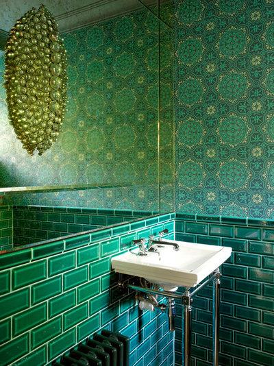 Contemporary Powder Room Richmond, 1930's refurbishment