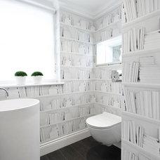 Contemporary Powder Room by Boscolo Interior Design