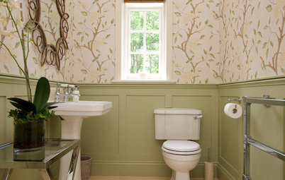 8 Eye-Catching Wallcoverings for Powder Rooms