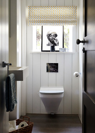 Transitional Powder Room Transitional Cloakroom
