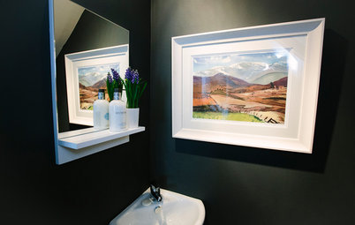 16 Petite Powder Rooms in the UK With Dark Walls