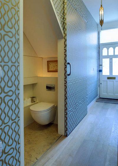 Contemporary Powder Room by Proctor & Shaw
