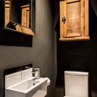 Photo of a traditional cloakroom in London.