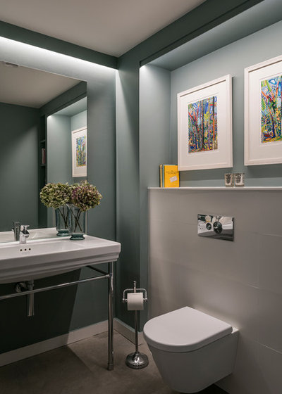 Transitional Cloakroom by Jonathan Little Photography