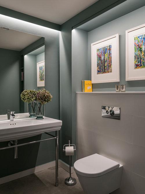 Grey cloakroom design ideas renovations photos - Cloakroom design ideas home ...
