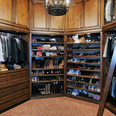 Traditional Closet by Elevation Architectural Studios