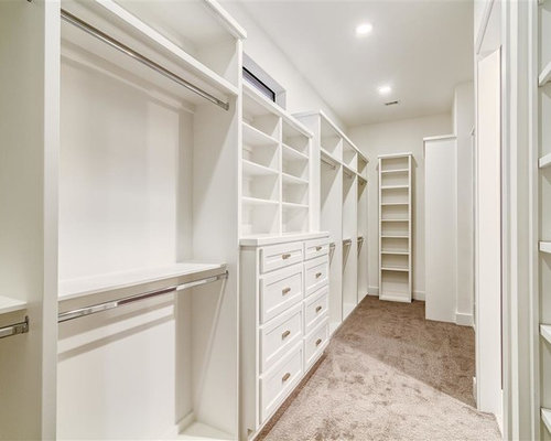 ejemplo de armario vestidor unisex moderno de tamao medio con armarios estilo shaker