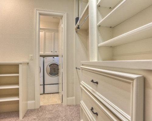 example of a classic closet design in houston - Master Bedroom Closet Design