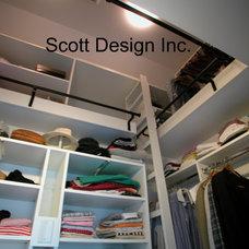 Contemporary Closet by Scott Design, Inc.