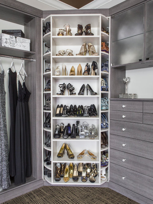 Rotating Shoe Rack Design Ideas & Remodel Pictures | Houzz