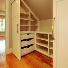 Knee Wall Bookshelves With Storage Behind