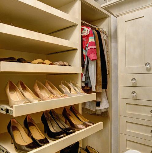 sliding shoe shelves design ideas remodel pictures houzz. Black Bedroom Furniture Sets. Home Design Ideas