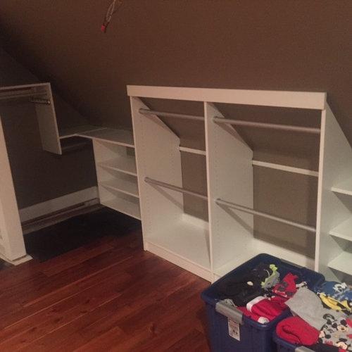 slanted roof closet ideas - Sloped Closet Home Design Ideas Remodel and Decor