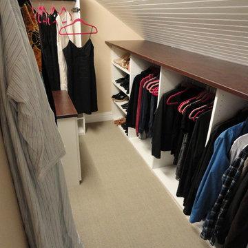 Angled Roofline Walkin Closet