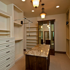 Mediterranean Closet by Jenkins Custom Homes