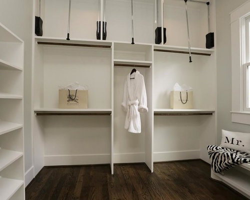 Design Ideas For A Small Classic Gender Neutral Dressing Room In Houston  With Open Cabinets, Part 80