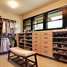 Contemporary Closet by Architectural Designs