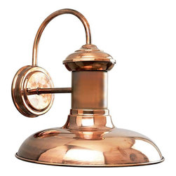 Progress Lighting - Progress Lighting P5723-14 Brookside 1 Light Outdoor Wall Light In Copper - Progress Lighting P5723-14 Brookside 1 Light Outdoor Wall Light In Copper