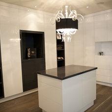 Contemporary Closet by Barroso Homes