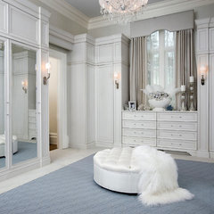 contemporary closet by Habachy Designs