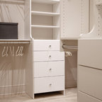 White Painted Maple Wood Walk In Closet Amp Dressing Room