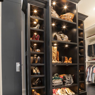 Transitional Closet Photo In Edmonton With Black Cabinets