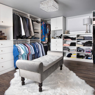 Basement Transforms into Master Closet