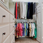 Master Bathroom with His and Hers Closets - Traditional - Closet - Houston - by Sneller Custom ...