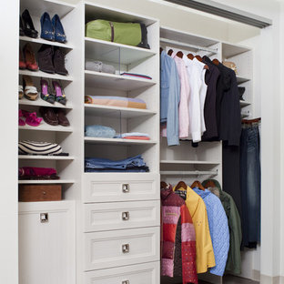 Reach In Closet   Transitional Carpeted Reach In Closet Idea In  Philadelphia With Recessed