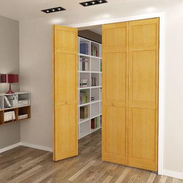 Bi-fold Door - Stained (Golden Oak) Traditional 6 Panel