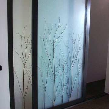 Birch Branch Thatch - Sliding Closet Doors / Room Dividers