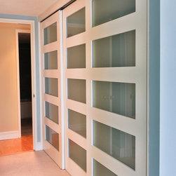 And Glass Sliding Closet Doors Replace The Old Mirrored Closet Doors