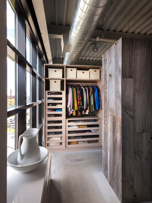 Industrial Walk In Closet Design Ideas Remodels Amp Photos